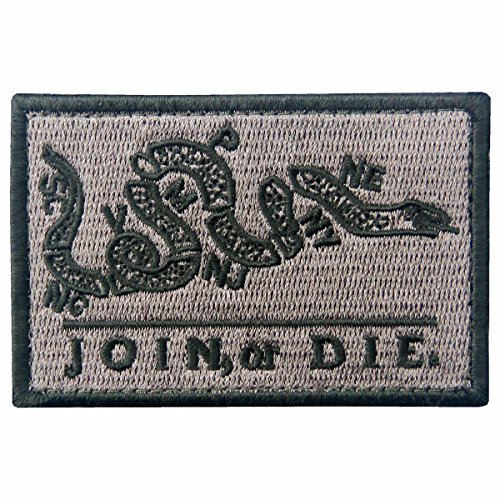 Join Or Die Tactical Embroidered Morale Applique Fastener Hook&Loop Patch - Coyote Tan