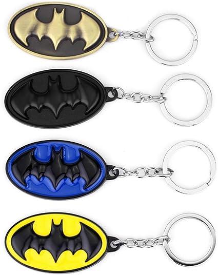 Athena DC Comics Batman Logo (4-Pack) Auto/casa/Barco Llavero w/Caja de Regalo: Amazon.es: Coche y moto