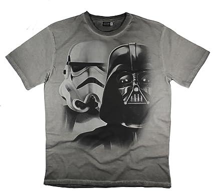 f35d1bc56 Men's Star Wars Stormtrooper Darth Vader T-Shirt Top (XXL, Grey ...