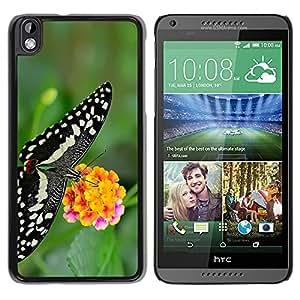 Color pétalo de Envío - Metal de aluminio y de plástico duro Caja del teléfono - Negro - HTC DESIRE 816