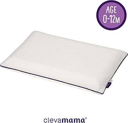 Breathable Clevamama Foam Toddler Pillow +12 months Hypoallergenic and Prevents Flat Head Syndrome