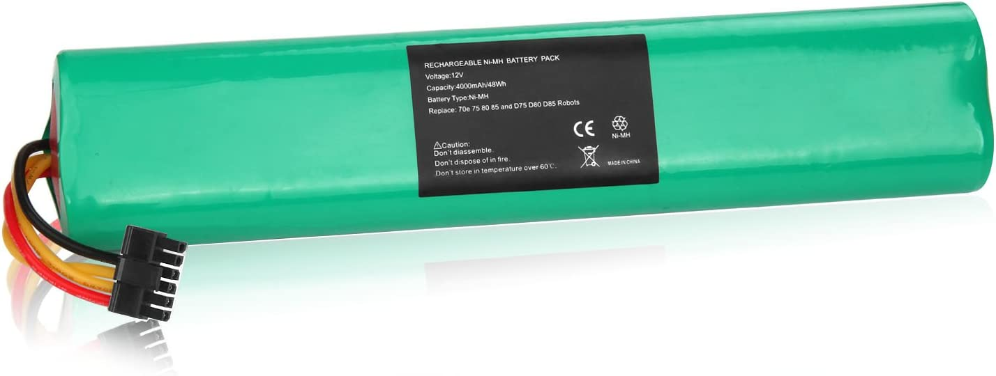 Fancy Buying NI-MH 12V 4000mAh Extended Battery for Neato Botvac Series and Botvac D Series Robots Botvac 70e, 75, 80, 85 Robotic Vacuum Cleaner 945-0129 945-0174