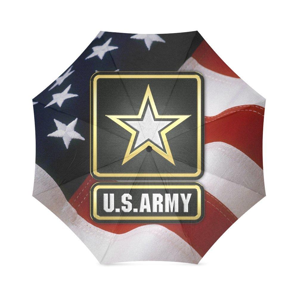 新しい到着。ノベルティタグMilitary US Armyアメリカ国旗100 %生地とアルミニウム高品質折りたたみ式傘   B01F3H3SFS