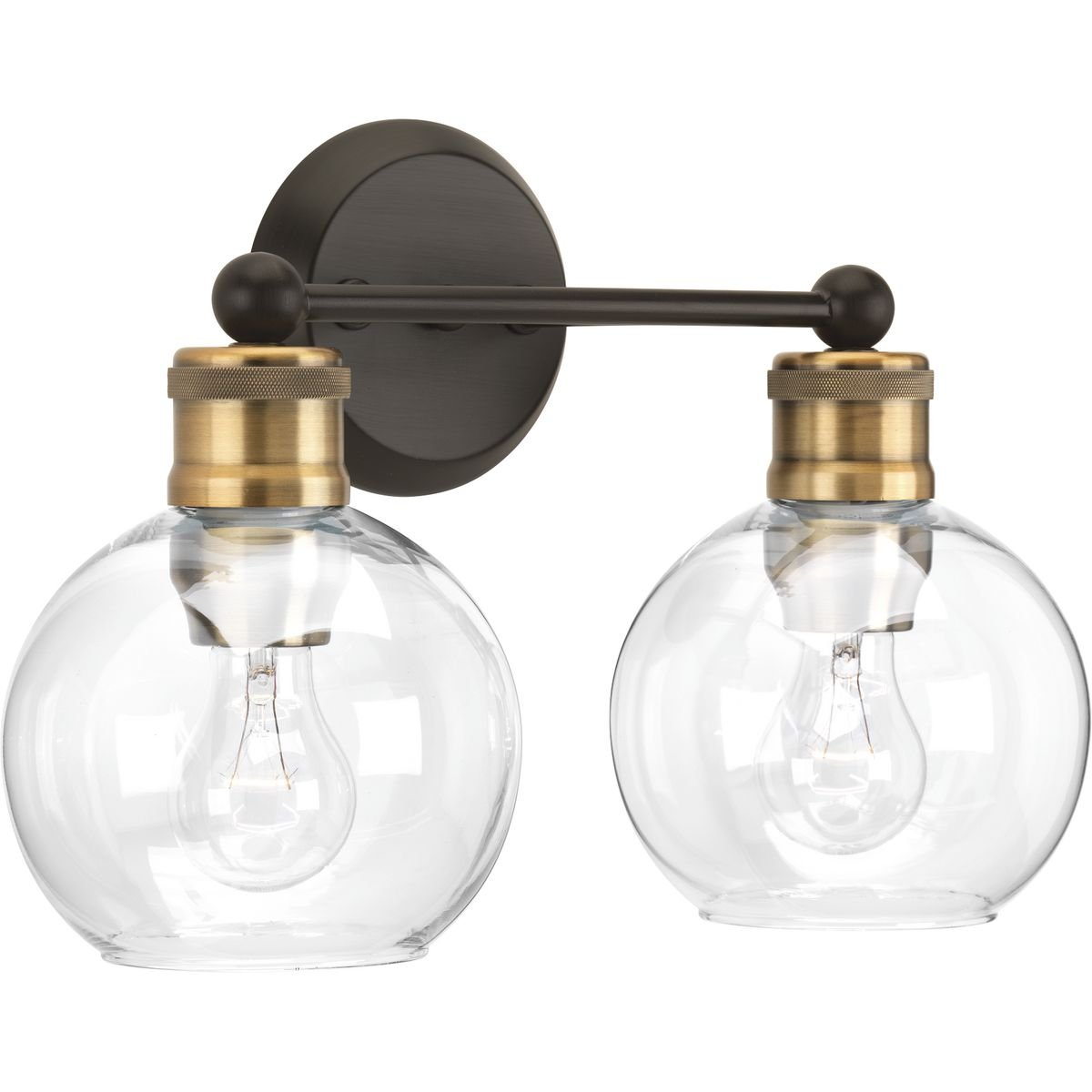 Progress Lighting P300050-020 Hansford Two-Light Bath and Vanity, Antique Bronze by Progress Lighting