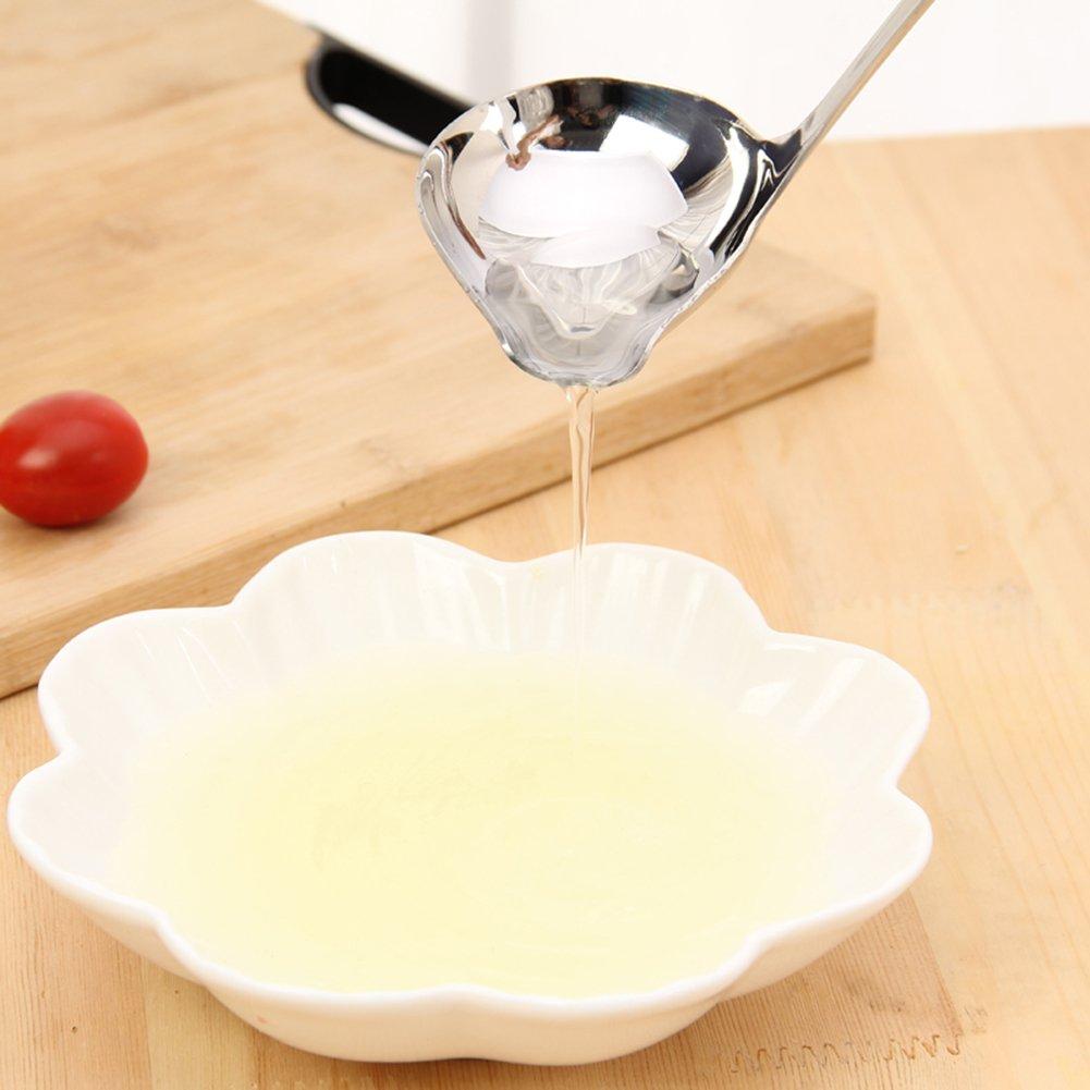Jitnzee Cuchar/ón de sopa con forma de boca de pato de acero inoxidable