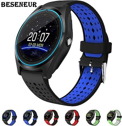 Amazon.com: Beseneur Bluetooth Smart Watch V9 con cámara ...