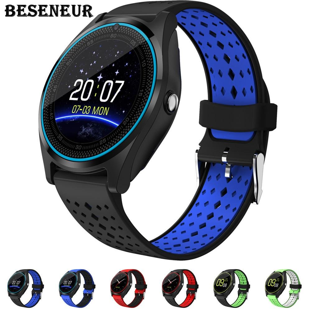 Amazon.com: Beseneur Bluetooth Smart Watch V9 con cámara ...