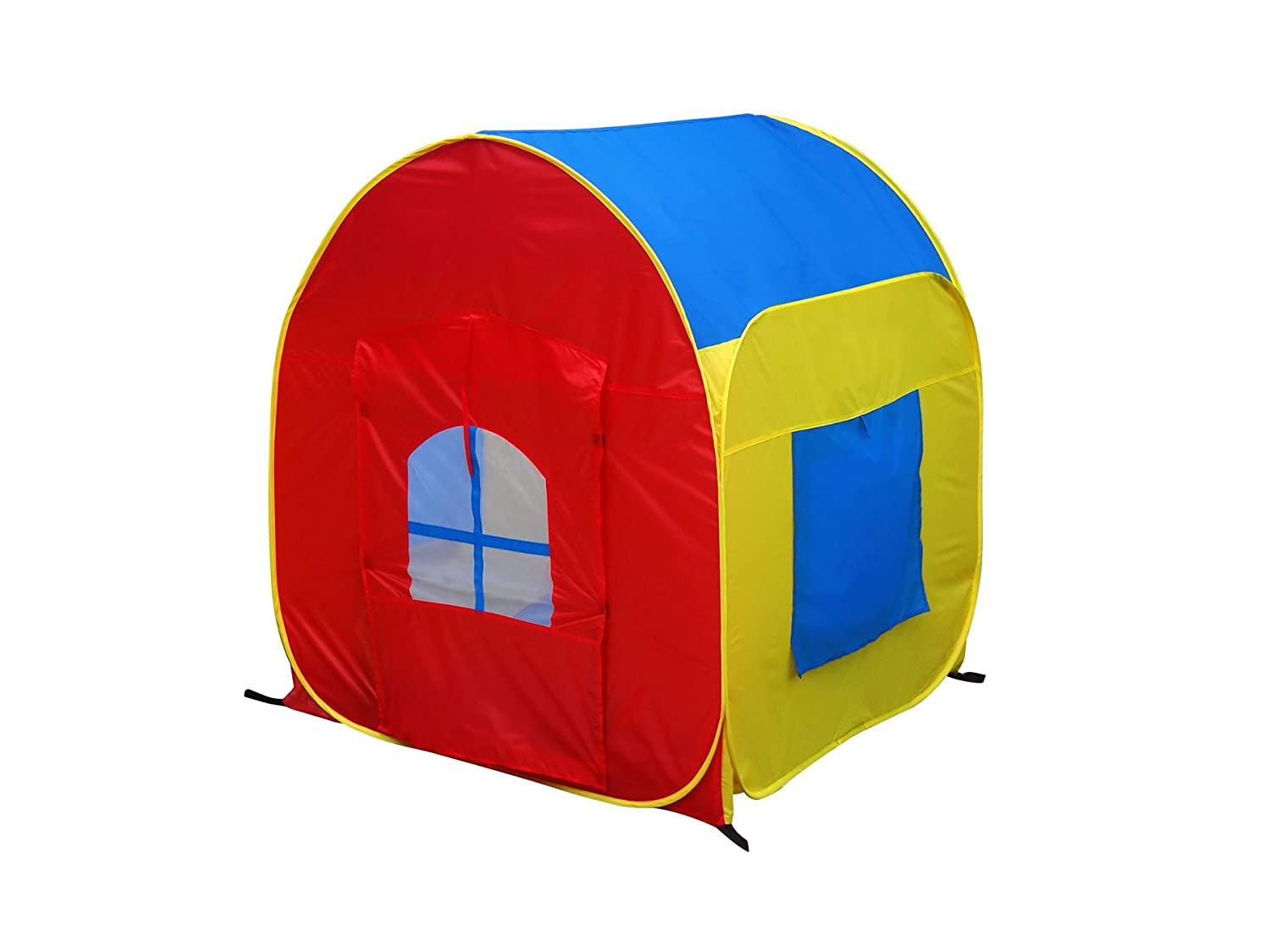 GigaTent My First House Pop-Up Play Tent – Large Size Kids Play House, 48 x 48 – Bright and Colorful, Easy Instant Assembly, Folds Flat – Includes Flat Storage Bag