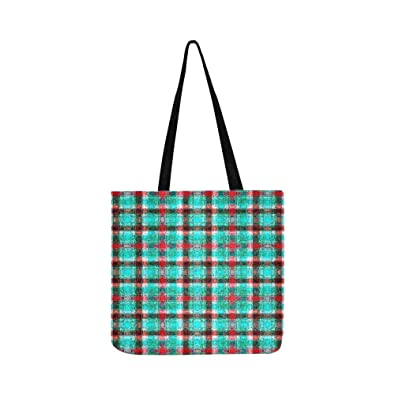 38c546effaa1 Image Unavailable. Image not available for. Color  Abstract Colorful Checkered  Pattern Trendy Stock Illustration Canvas Tote ...