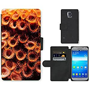 PU LEATHER case coque housse smartphone Flip bag Cover protection // M00112124 Coral Sea Fish Naturaleza Agua Animales // Samsung Galaxy S5 S V SV i9600 (Not Fits S5 ACTIVE)