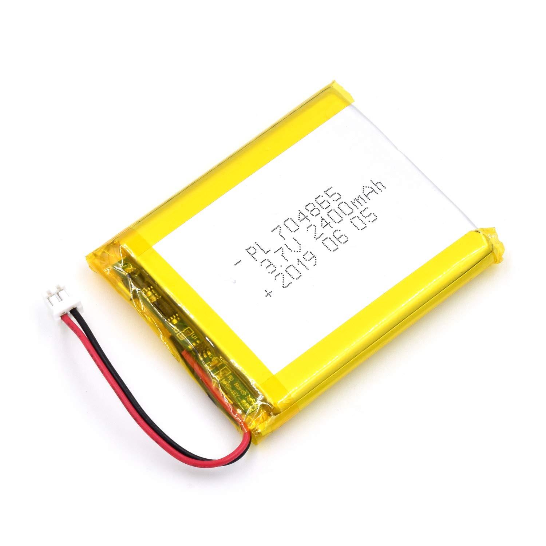 Bateria Lipo 3.7V 2400mAh 704865 Recargable JST Conector