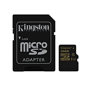 Kingston SDCG/16GB Gold Tarjeta de memoria microSD de 16 GB con UHS-I Speed Class 3 (U3) y adaptador SD