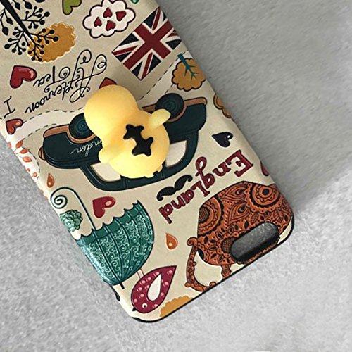 Pinzhi Pinzhi 3D Nizza Weiche Silikon Pappy Squishy Katze für iPhone 6 Plus Case Gelb Hull Handy Shell Stil