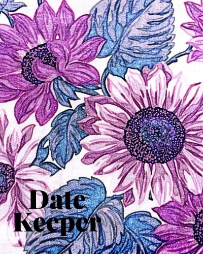 """Weekly Perpetual Calendar (Date Keeper: Purple Floral Cover 