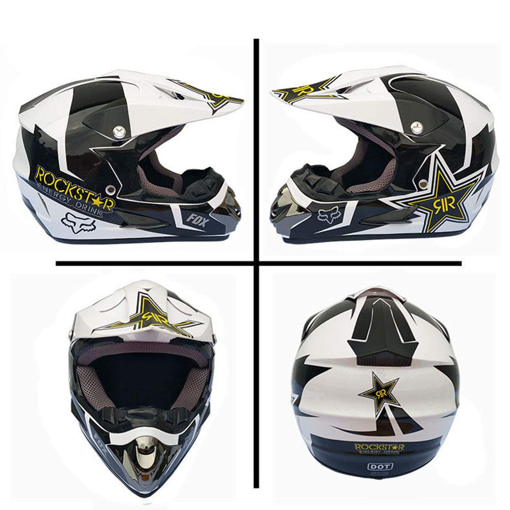 SHT Adult Off-road Helmet DOT Off-road Motorcycle Motocross ATV Motorcycle With Goggles//Mask//Gloves