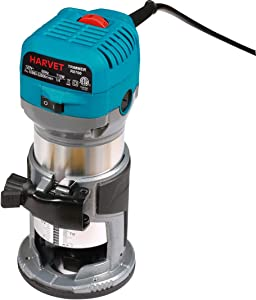 HARVET R0700 1.25HP 6.5Amp Variable Speed Palm Compact Router Kit