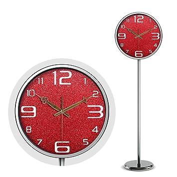 HENJH Reloj de Pared Moderno de 14 Pulgadas, fácil de Leer. Reloj Digital árabe, Adecuado para la Oficina en casa, en Cualquier habitación.