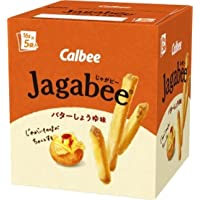 Calbee Potato Sticks -- Jagabee (Butter Soy Sauce Taste), 3.17oz (18g X5pack)