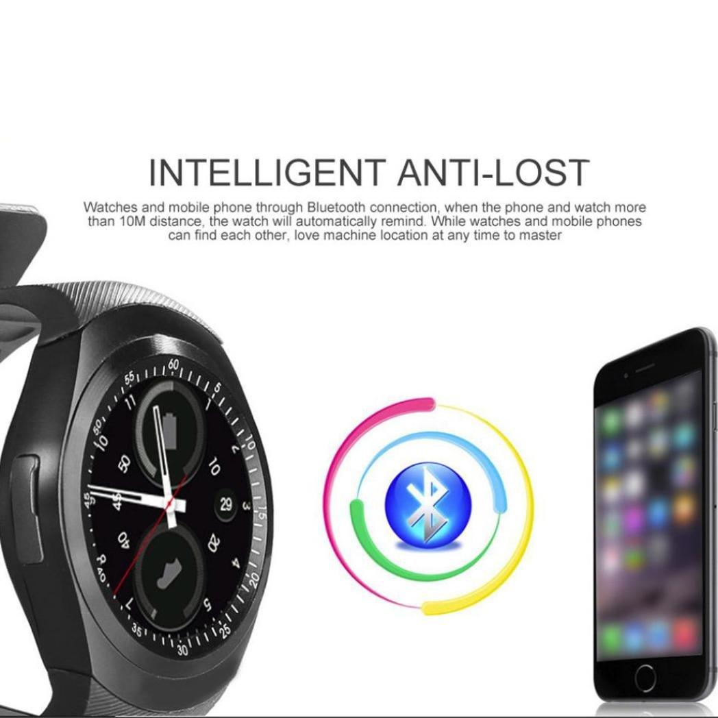 Reloj Inteligente Hombre Mujer ❤ Amlaiworld Moda Bluetooth Smartwatch 2018 Reloj Inteligente Redondo con Sim Tarjeta Smartwatches Compatible Android iOS ...