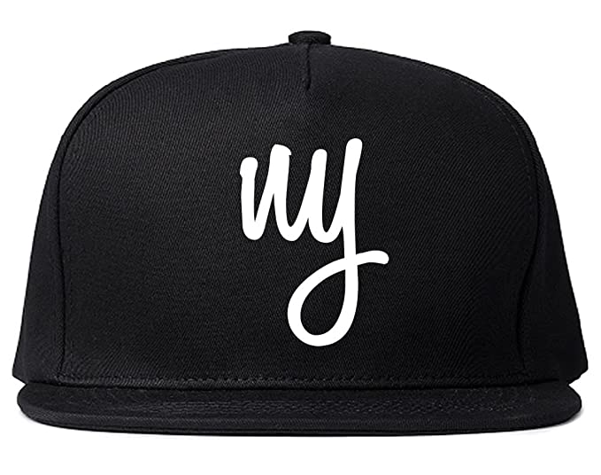 6b0f22ce9 Amazon.com: Kings Of NY New York Script Logo NYC Snapback Hat Black ...