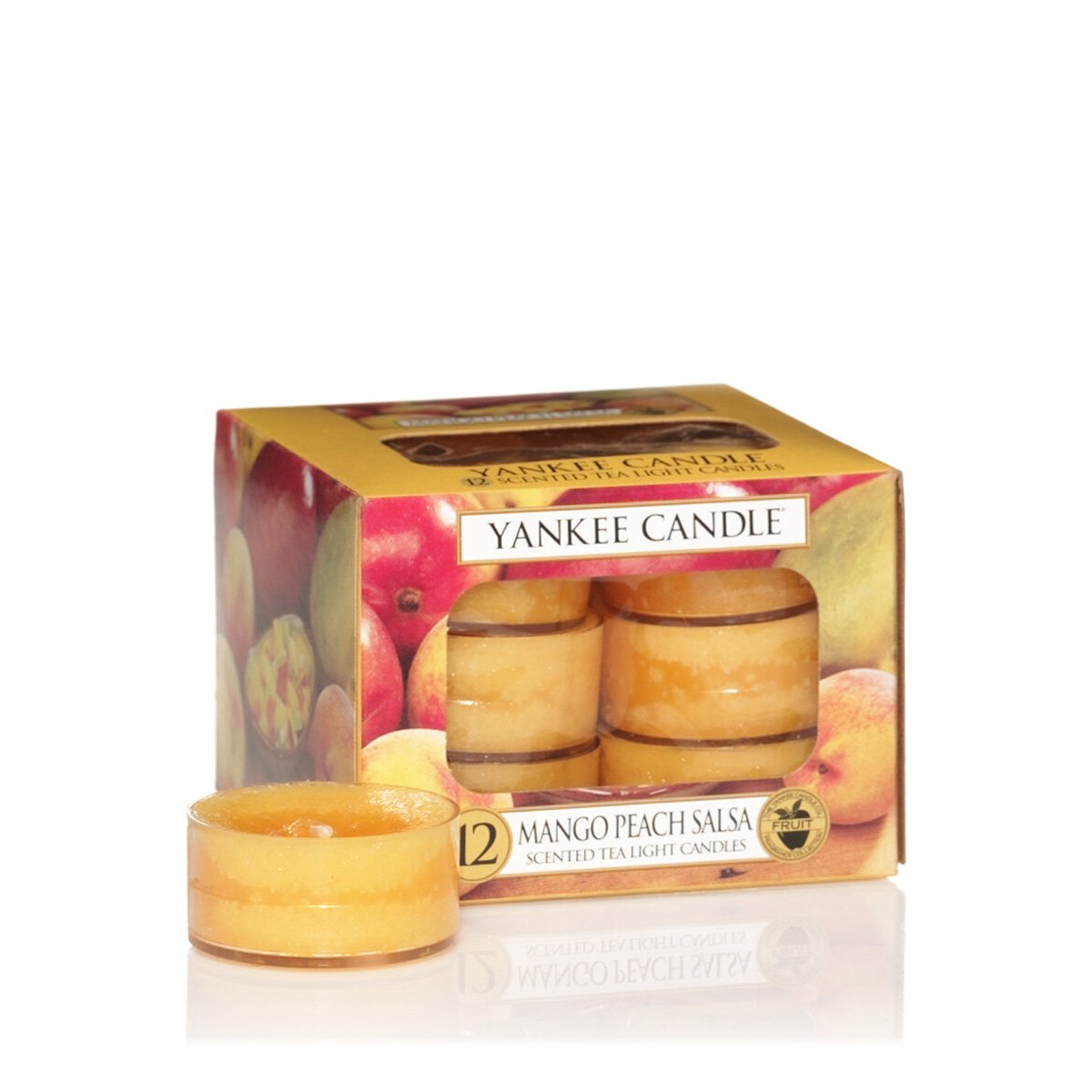 Yankee Candles Tea Lights (12 x Mango Peach Salsa) 1114684E