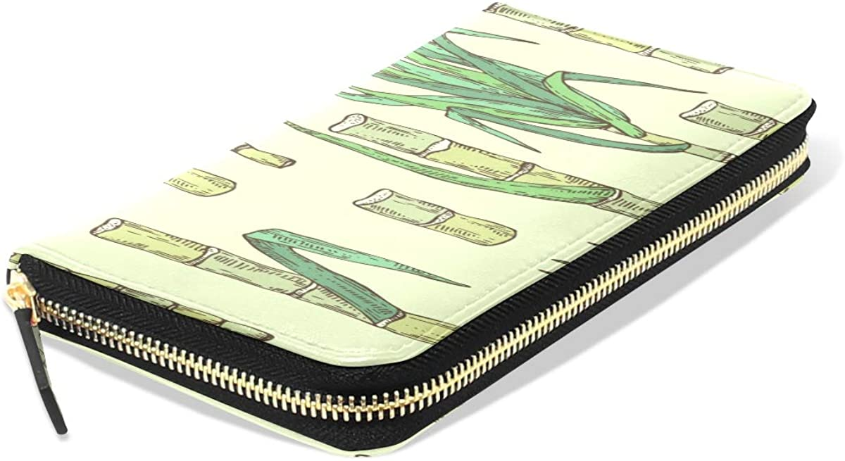 Long Wallets Sugar Cane Sweet Hard Fruits Long Passport Clutch Purses Zipper Wallet Case Handbag Money Bag For Lady Women Girl Boy Wallets For Kids