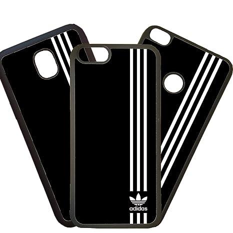 elhuron Carcasas De Moviles Fundas De TPU Compatible con El Modelo de Movil Samsung Galaxy A3 2016 Adidas Marcas Logotipo Blanco Moda