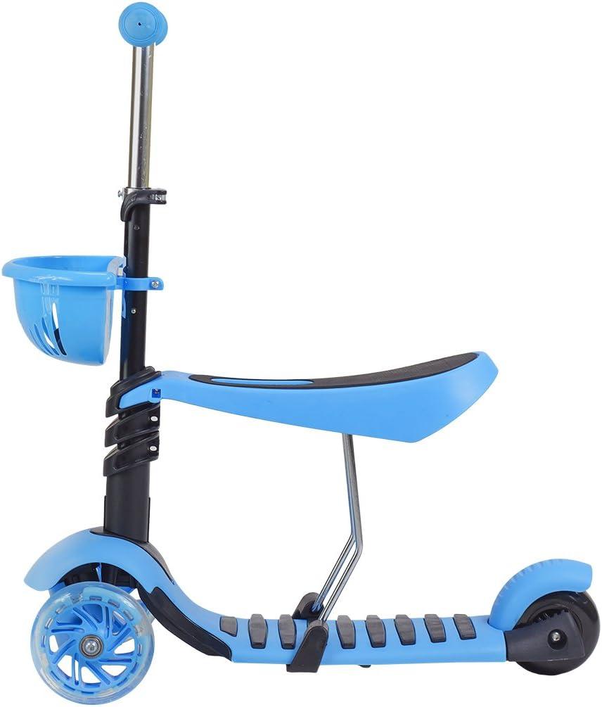 Scooter Roller Tretroller Cityroller Kickboard Kinderroller Dreirad LEDs HLB08