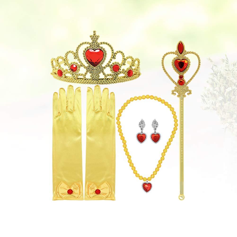 TOYANDONA 7 unids Princesa Cosplay Corona Collar Traje ...