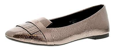 Apache Claudia Mujer Zapatos Planos Estaño - Estaño - GB Tallas DE 3-9 -