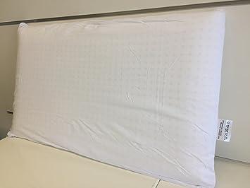 14d09427bcd282 MaxxGoods Baumwoll Bezug mit Reißverschluss 44 cm x 74cm AloeVera  Nackenstützkissen