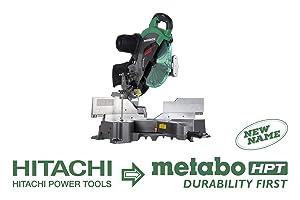"""Metabo HPT C12RSH2S 12"""" Sliding Compound Miter Saw, Double Bevel, Laser Marker, Compact Slide System, 15-Amp Motor, Large Sliding Fences, 5 Year Warranty"""