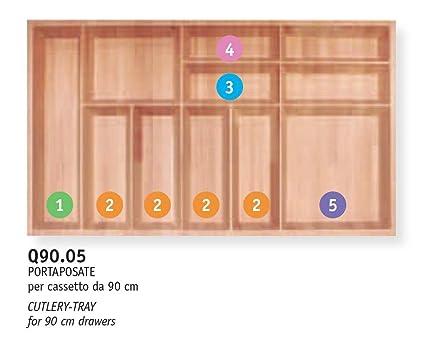cubertero de madera maciza de haya evaporato-scavato B. decoración – 90 cm