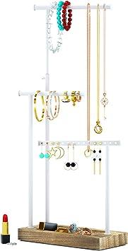 Amazon Com Jewelry Organizer Display Extra Tall Necklace Holder 3 Tier Jewelry Tree Stand Carbonized Black Home Improvement
