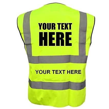 Custom Printed Pink Hi-Vis Visibility Safety Vest//Waistcoat Text//Logo