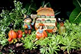 Fairy Garden Vegetables Accessories Kit with Fairy Figurine, Miniature Scarecrow & Vegetable Stand – 5 Pieces – Farm Collection by Pretmanns