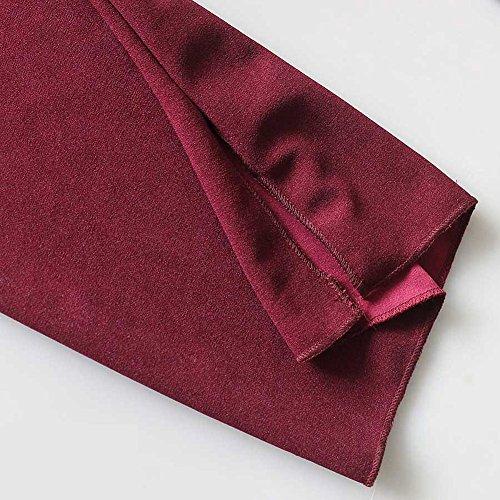 Wrap Coprispalle Leggero Basic Top Cardigan Donna Bolero Aperto Maniche Lunghe Bodeaux Quge Comodo pfqx4w4