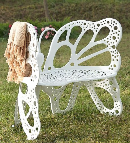 All-Weather Aluminum Butterfly Bench with Powder Coat Finish