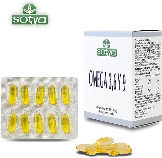 SOTYA - SOTYA Omega 3,6 y 9 30 perlas 1340mg: Amazon.es: Salud y cuidado personal