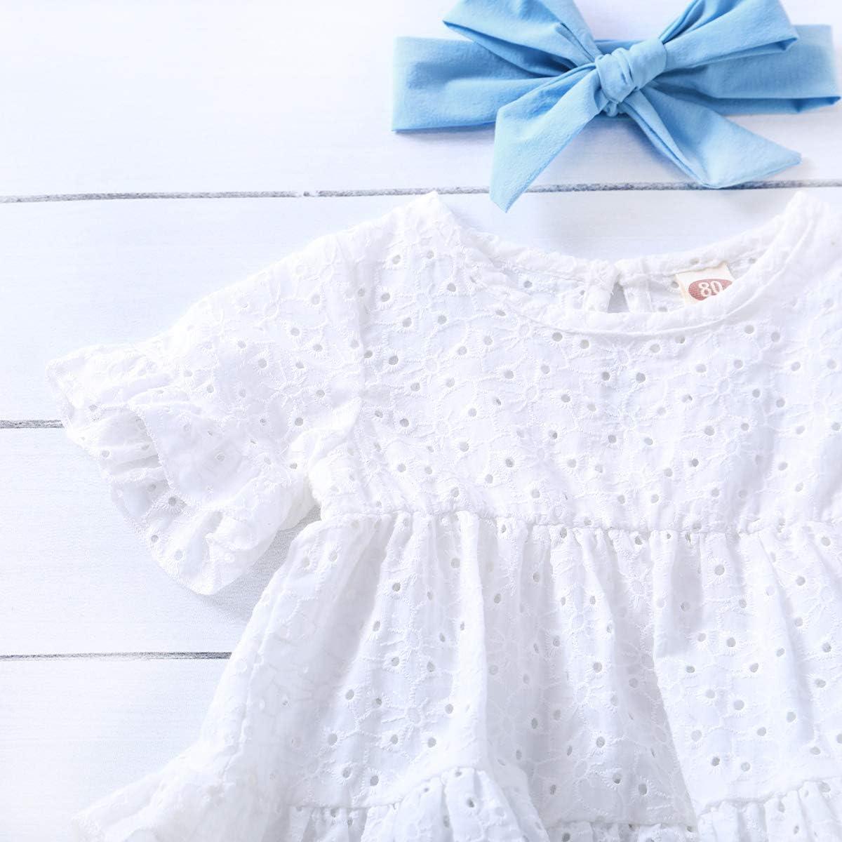 Newborn Baby Girl Clothes Long Sleeve Ruffle Romper Bodysuit Floral Halen Pants Bowknot Headband 3pcs Infant Toddler Outfits