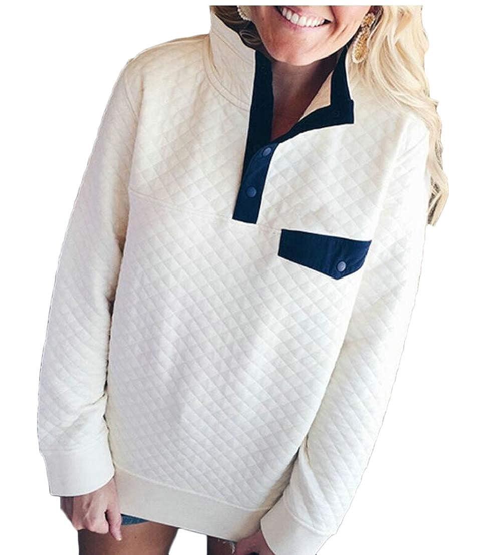 UNINUKOO Unko Womens Sweater Turtleneck Tops Blouse Pullover Top