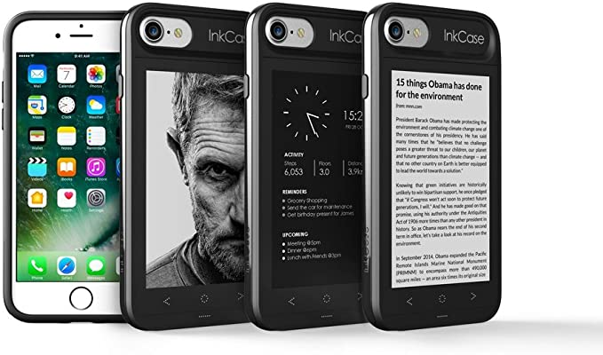 Oaxis Inkcase i7, E-Ink Second Screen Case para iPhone 7, no sólo ...