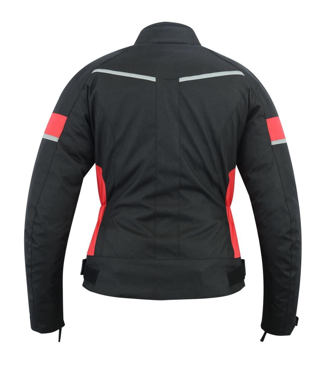 impermeabile nera//rossa Giacca da moto protettiva da donna WCJ-1834RED