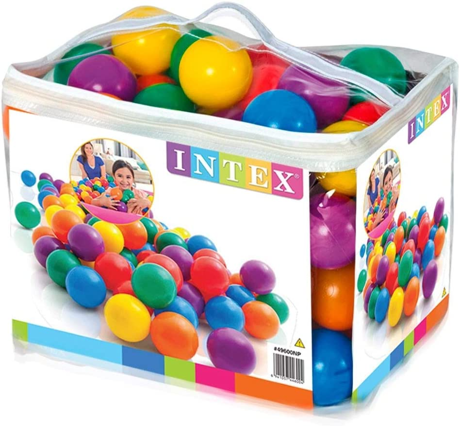"B000066SW0 Intex 3-1/8"" Fun Ballz - 100 Multi-Colored Plastic Balls, for Ages 2+ 61nJ2B2HOiOL"
