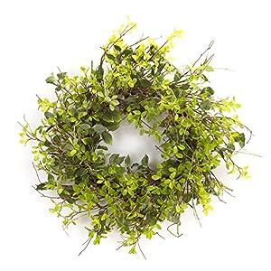 Melrose International, LLC Spring Floral Oversized Mixed Foliage Wreath