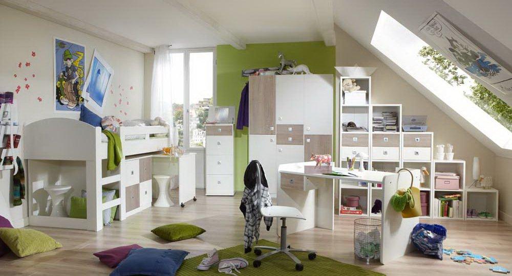 lifestyle4living Dormitorio Juvenil de 2 t.g en Blanco con Alpin ...