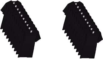 Fruit of the Loom Juego de 10 camisetas para niño, negro, 2 of 5-6 Years