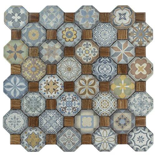 Ceramic Floor Pattern (SomerTile FOSTESML Abacu Ceramic Floor & Wall Tile, 12.25