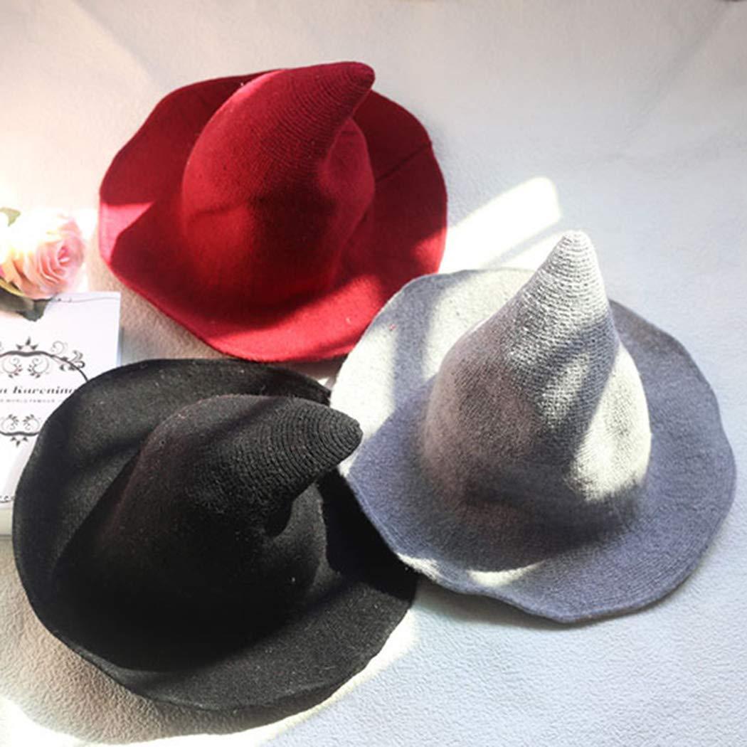 bf64f13fe39 Witch Hat Sheep Wool Christmas Halloween Foldable Costume Ball Sun ...