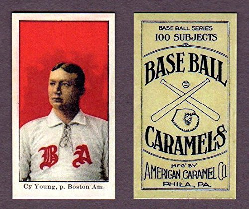 Cy Young 1909 American Caramel Baseball Reprint Card **In its own case** (Boston) ()